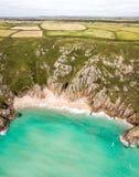 Widok z lotu ptaka Cornwall nadmorski Zdjęcie Royalty Free
