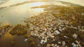 Widok z lotu ptaka Coron miasto z slamsami i biednym okręgiem PALAWAN Bu Zdjęcia Royalty Free