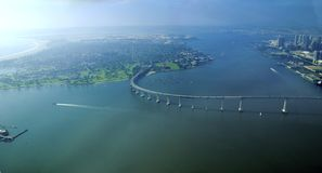 Widok z lotu ptaka Coronado wyspa, San Diego Zdjęcia Stock