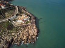 Widok z lotu ptaka Cullera latarnia morska, Walencja Hiszpania zdjęcie royalty free