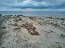 Widok z lotu ptaka Curonian mierzeja fotografia stock