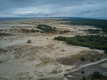 Widok z lotu ptaka Curonian mierzeja zdjęcie royalty free