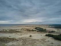 Widok z lotu ptaka Curonian mierzeja obrazy stock