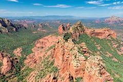 Widok z lotu ptaka czerwieni skały jary w Sedona, Arizona Zdjęcia Royalty Free