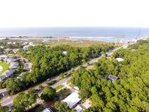 Widok z lotu ptaka Dauphin wyspa, Alabama zdjęcia stock