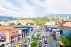 Widok z lotu ptaka disctric Medellin Kolumbia Industriales Fotografia Stock