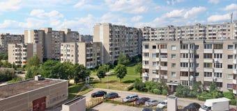 Widok z lotu ptaka dla pierwszy wielo- mieszkania standardowego mieszkaniowego b Zdjęcie Royalty Free