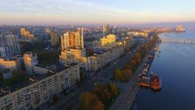 Widok z lotu ptaka Dnipropetrovsk śródmieście przy latem zdjęcie wideo