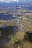 Widok z lotu ptaka dolina Obrazy Stock