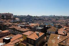 Widok Z Lotu Ptaka Dom Luis Przerzucam most nad Douro rzeką x27 i Oporto&; s H Zdjęcie Stock