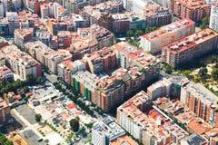 Widok z lotu ptaka domy przy mieszkaniowym okręgiem Fotografia Stock