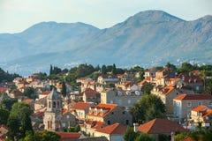 Widok z lotu ptaka domy w Cavtat fotografia royalty free