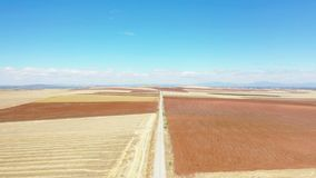 Widok z lotu ptaka droga gruntowa obok Don Benito zbiory