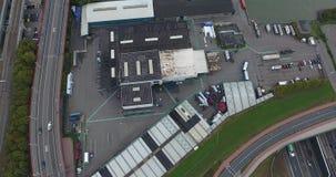 Widok z lotu ptaka drogi, park przemys?owy w Dordrecht, holandie zbiory