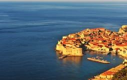 Widok z lotu ptaka Dubrovnik stary miasteczko, Chorwacja Fotografia Stock