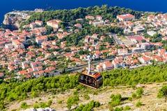 Widok z lotu ptaka Dubrovnik stary miasteczko zdjęcie royalty free
