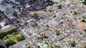 Widok z lotu ptaka dzielnica francuska, Nowy Orlean, Luizjana zdjęcia royalty free