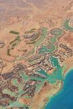 Widok z lotu ptaka El Gouna luksusowa Egipska miejscowo?? turystyczna lokalizowa? na Czerwonym morzu 20 kilometr?w p??nocy Hurgha zdjęcia royalty free