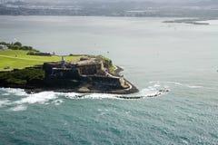 Widok z lotu ptaka El Morro Puerto Rico Zdjęcia Stock