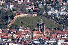 Widok z lotu ptaka Esslingen, Niemcy Obrazy Stock