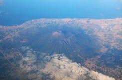 Widok z lotu ptaka Etna wulkan zdjęcie royalty free