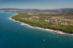 Widok z lotu ptaka etrusku wybrzeże - Włochy, Tuscany, Cecina Obraz Royalty Free