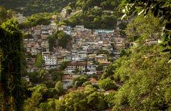 Widok z lotu ptaka Favela w Cosme Velho w Rio De Janeiro obraz royalty free