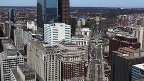 Widok z lotu ptaka Filadelfia, Pennsylwania z muzeum sztuki w tle zdjęcie wideo