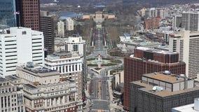 Widok z lotu ptaka Filadelfia z muzeum sztuki w tle zbiory