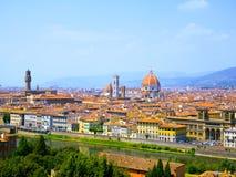 Widok Z Lotu Ptaka Florencja katedra Zdjęcia Stock