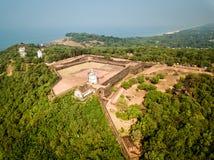 Widok Z Lotu Ptaka fort Aguada w Goa India Zdjęcia Royalty Free