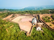 Widok Z Lotu Ptaka fort Aguada w Goa India Zdjęcie Stock