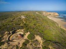 Widok z lotu ptaka fortu Pierce struktura Obrazy Royalty Free