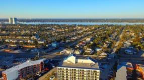 Widok z lotu ptaka fortu Walton plaża, Floryda zdjęcie stock