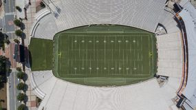 Widok Z Lotu Ptaka Frank Howard pole Przy Clemson memorial stadium Zdjęcia Stock