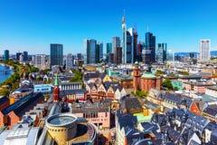 Widok z lotu ptaka Frankfurt magistrala, Niemcy - Am - fotografia royalty free