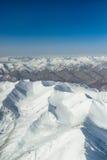 Widok z lotu ptaka góra Obrazy Royalty Free