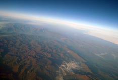 Widok z lotu ptaka góry, obraz royalty free