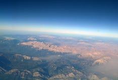 Widok z lotu ptaka góry, fotografia royalty free