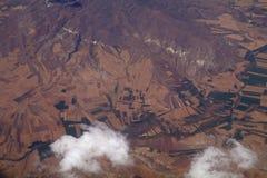Widok z lotu ptaka góry, obrazy stock