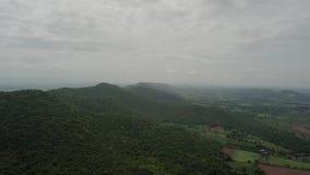 Widok z lotu ptaka góry od truteń krzywy zdjęcie wideo
