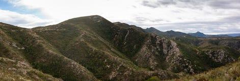 Widok z lotu ptaka góry w Hiszpania zdjęcia stock