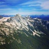 Widok z lotu ptaka góry w Vancouver, kolumbiowie brytyjska, Kanada Zdjęcie Royalty Free