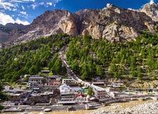 Widok z lotu ptaka Gangotri miasteczko obrazy royalty free