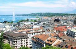 Widok z lotu ptaka Genewa Zdjęcie Stock