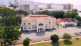 Widok z lotu ptaka Georgetown Penang, Malezja zbiory wideo