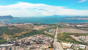 Widok z lotu ptaka Gibraltar, Zjednoczone Królestwo Wielki Brytania, Iberyjski półwysep, Europa zdjęcie wideo