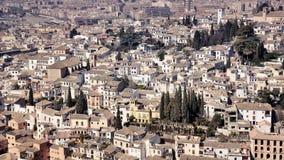 Widok z lotu ptaka Granada od Ahambra pałac Zdjęcia Royalty Free