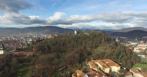 Widok z lotu ptaka Graz zbiory wideo
