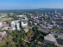 Widok z lotu ptaka Greenville, SC zdjęcia royalty free
